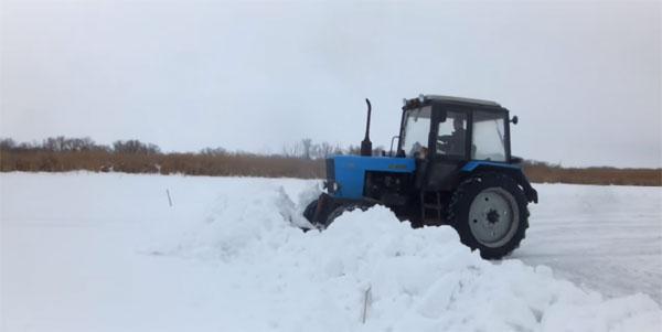 Производительность автогрейдера при уборке снега